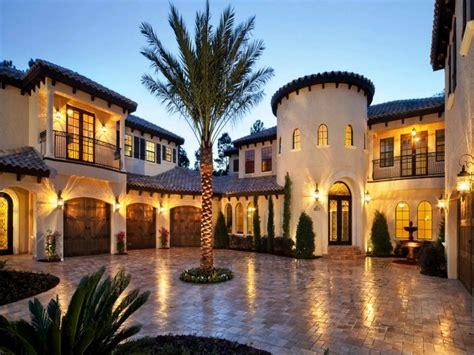 Mediterranean Style Home Spanish Hacienda Style Homes ...