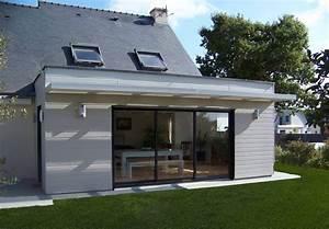 Photos Agrandissement Maison : extension ossature bois gu rande r alisation wood al wood al ~ Melissatoandfro.com Idées de Décoration