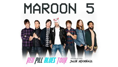 maroon 5 members how to get maroon 5 tickets red pill blues 2018 tour