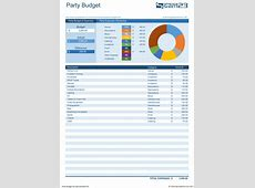 Party Budget Template Planning Pinterest Budgeting
