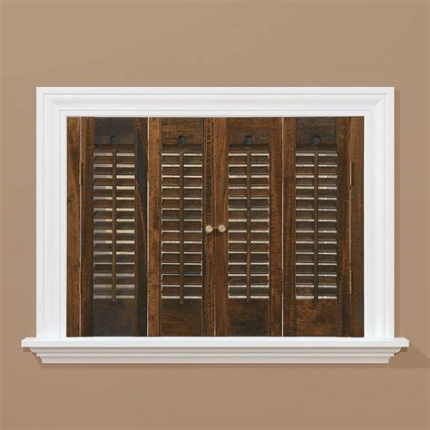 window shutters interior home depot homebasics traditional wood walnut interior shutter