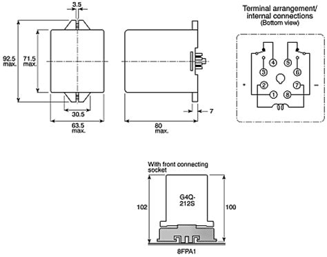 g4q 212s 220ac dpdt in latching relay 5 a 220v ac