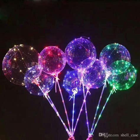 led balloon lights with stick led bobo balloons flash luminous clear balloons