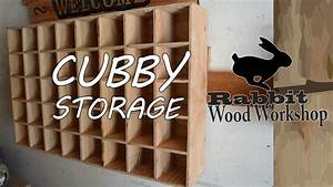 Cubby storage Easy build - YouTube