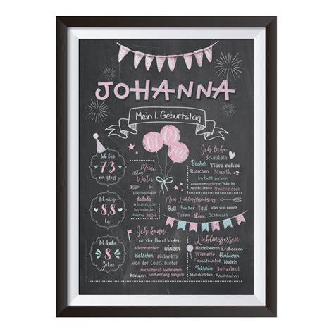 baby chalkboard zum  geburtstag rosa chalkboardsde