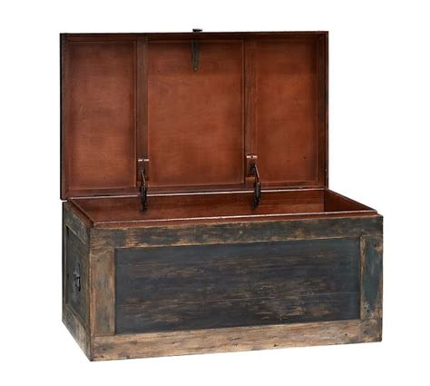 pottery barn trunk coffee table conway trunk pottery barn