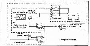 3100 Heui Troubleshooting Inlet Air Heater Circuit Test