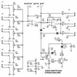 6 input mixer With audio mixer schematic diagram audio mixer circuit diagram mixer wiring