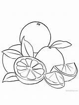 Coloring Grapefruit Printable Fruit Grape Activity Orange sketch template