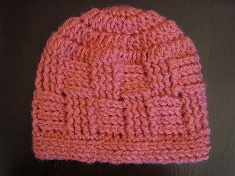Grey Basketweave Crochet Hat Pattern