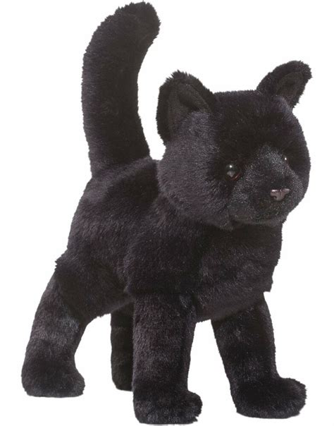 douglas midnight black cat plush stuffed animal toy