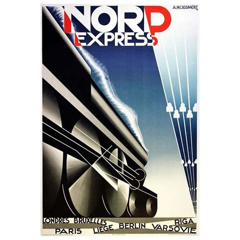deco posters for sale original deco steam poster for nord express for sale at 1stdibs