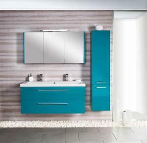 best meuble vasque salle de bain bleu gallery seiunkel With salle de bain design avec meuble salle de bain 120 cm 1 vasque 2 robinets