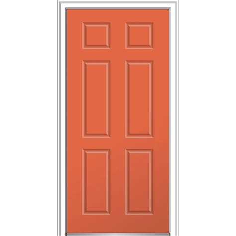 mid century entry mmi door 36 in x 80 in 6 panel right inswing