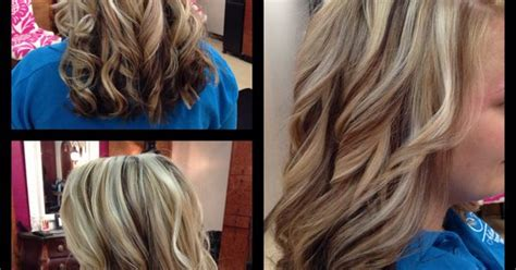 Bright Blonde Highlights With Cool Brown Lowlights, Amber