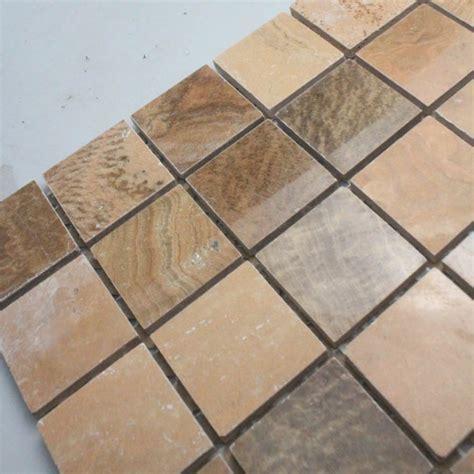 mosaic tile square brown patterns bathroom