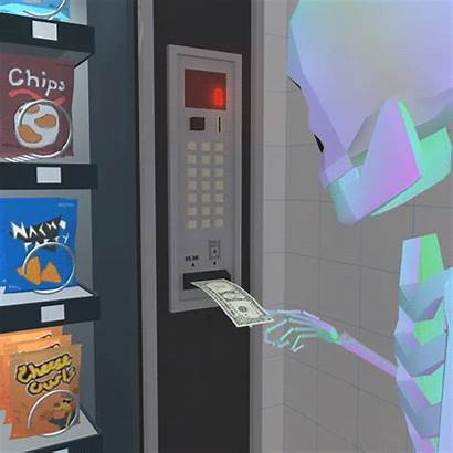 Vending Machine Skeleton Gifs Reject Giphy Gifer
