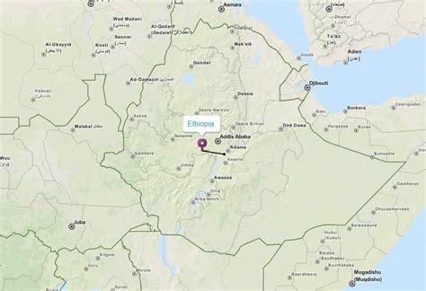 ethiopia map  ethiopia satellite images
