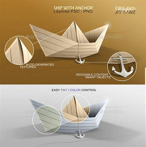 Origami Boats And Ships by Origami Ship With Anchor Origami Ship Anchor And Ships