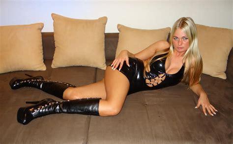 Wallpaper Jacky Amateur Sofa Blonde Boots Shiny Dress