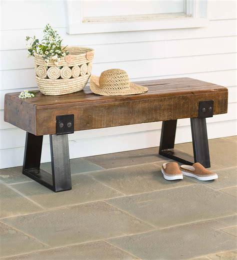 Wood Porch Bench - richland indoor outdoor reclaimed wood bench outdoor