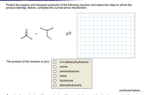 Solved Predict The Organic And Inorganic Products Of The