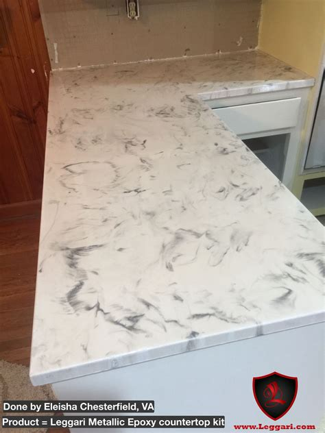 Metallic Countertop by This Countertop Was Coated With A Leggari Products Diy