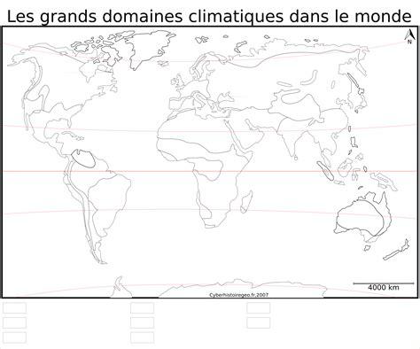 Carte Relief Monde Cycle 3 by Fond De Carte Les Grands Domaines Climatiques Dans Le