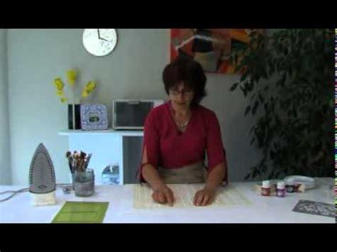 p 233 b 233 o peinture sur tissu d 233 corez un set de table avec setacolor