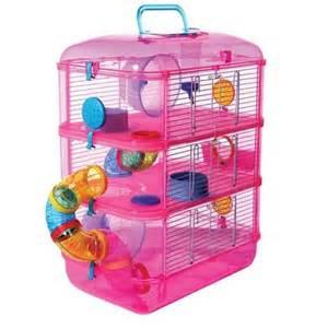 Fantasia Grand Hamster Cage rose petite cage des animaux avec la boule libre exercice 53 x 40 x 26 cm Les