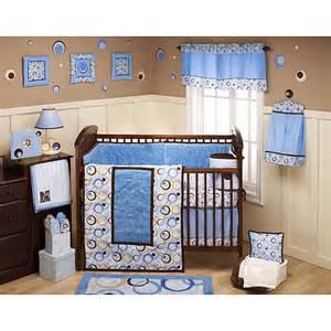 george baby uptown 4 piece crib bedding set blue
