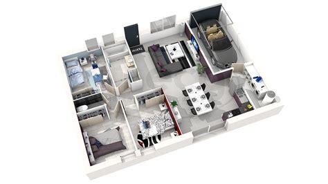 plan chambre 3d plan de maison simple 3 chambres en 3d