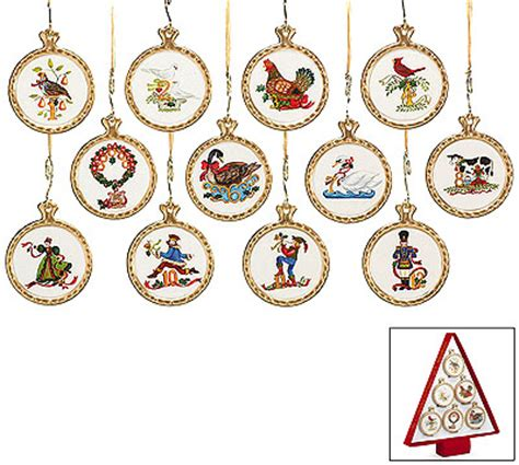 12 twelve days of christmas ceramic ornaments ebay