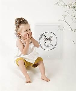 affiche lilipinso lapin et fleurs With affiche chambre bébé avec tapis de fleurs d acupression