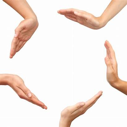 Hands Circle Making Transparent Isolated Background Icon