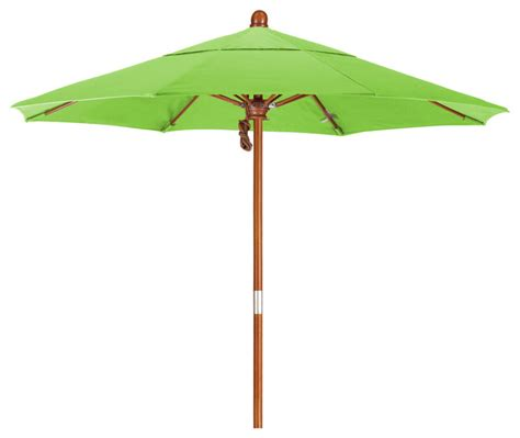 7 5 foot pacifica fabric marenti wood market umbrella with