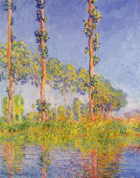 Poplars Autumn Effect - Monet - oil painting reproduction - China Oil Painting Gallery