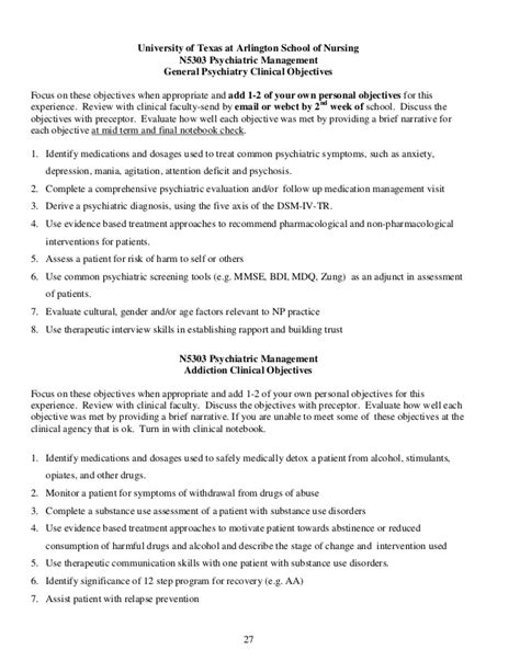 Practicum Resume Objective by Incomplete Clinical Syllabus
