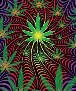 Psychedelic Marijuana Blanket www.trippystore.com ...