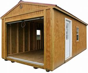 open garage portable building by big b buildings big b With building a portable shed