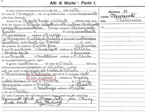 Comune Di Treviso Ufficio Anagrafe by I Caduti Partigiani Comune Di Treviso Wladimiro