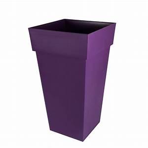 Castorama Pot De Fleur : vase carr eda toscane xxl 98l prune pot de fleurs poterie fontaine bassin d coration ~ Melissatoandfro.com Idées de Décoration
