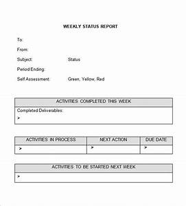 weekly status report template cyberuse With it report template for word