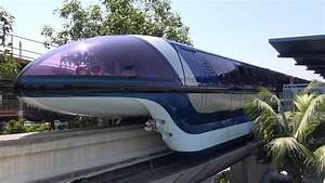 Disneyland Monorail FULL Ride From Front Cab Grand Cir