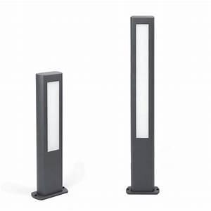 Potelet D Eclairage Exterieur : nanda borne led gris anthracite hauteur 50 ou 80 cm ~ Premium-room.com Idées de Décoration