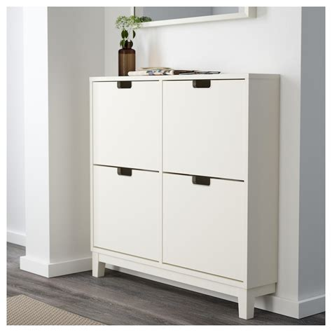 StÄll Shoe Cabinet With 4 Compartments White 96x90 Cm Ikea