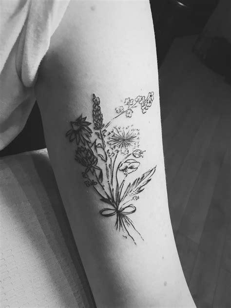 My Wildflower tattoo   Wildflower tattoo, Daffodil tattoo