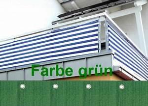 Balkon Sichtschutz Grün : sichtschutz windschutz balkon balkonverkleidung 500x90cm gr n ebay ~ Markanthonyermac.com Haus und Dekorationen