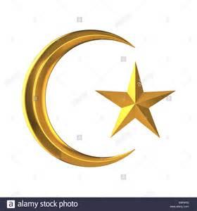 Crescent Moon and Star Islam Symbol