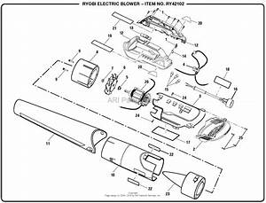 Homelite Ry42102 Blower Mfg  No  090264001 Parts Diagram For General Assembly
